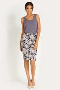 Provence floral pencil skirt