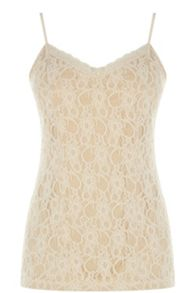 Stretch lace camisole