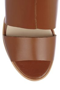 Ibiza Leather Block Heel Sandals