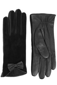 Suede Bow Glove
