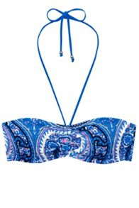 Paisley Print Rouched Bandeau Top