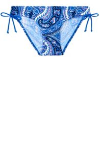 Paisley Rouched Side Panel Bikini Bottom