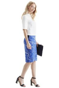 Fruity cut out pencil skirt