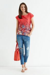 Summer meadow border t shirt