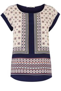Moroccan Tile Woven Front Tee