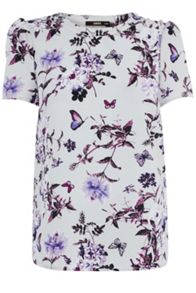Beautiful Floral Grosgrain T-shirt
