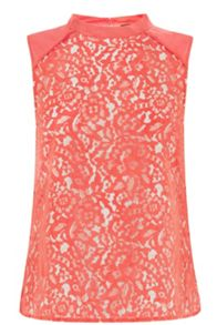 Leaf lace high neck shell