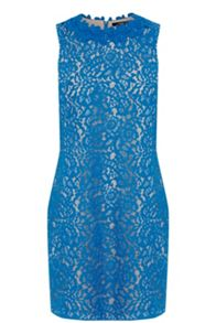 Lace Trimmed Oriental Shift Dress