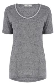 Metallic trim t shirt