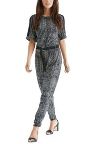 Mono print d ring jumpsuit