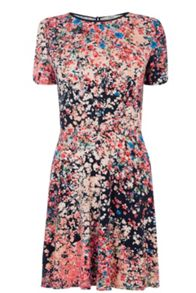 Clustered Ditsy Print Dress
