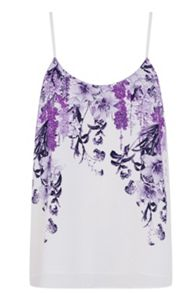 Botanical placement camisole