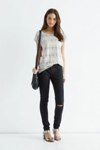 Lace Burnout Tee