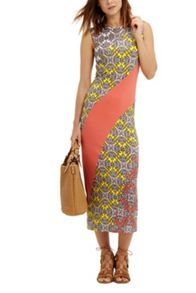 Oasis Sintra Print Sheath Midi Dress