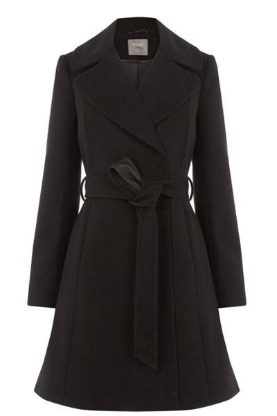Oasis Annabel Belted Flare Coat