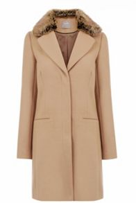 Oasis Felicity Formal Fur Collar Coat