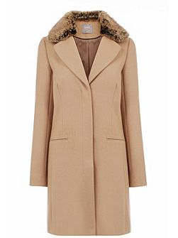 Felicity Formal Fur Collar Coat