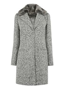Felicity Faux Fur Collar Coat