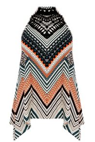 Oasis Chevron Stripe Wrap Vest