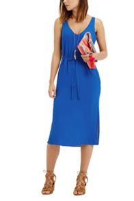 Oasis V Front And Back Midi Dress