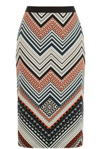 Oasis Saffron Stripe Pencil Skirt