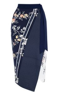 Oasis Sashiko Wrap Pencil Skirt