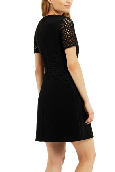 Oasis Broderie Patched Dress