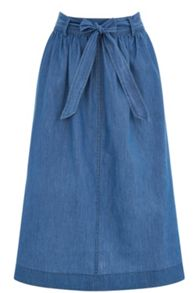 Oasis Katie Chambray Skirt