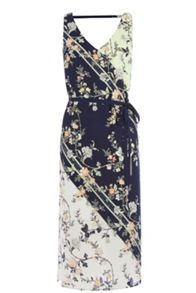 Oasis Sashiko Sash Dress