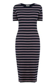 Oasis Fluro Stripe Rib Tube Dress