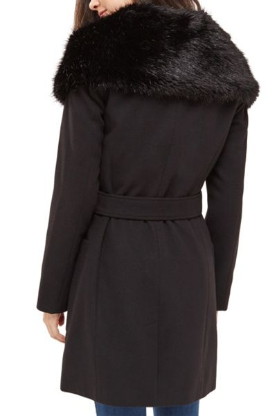 Oasis Stephanie Fur Collar Coat