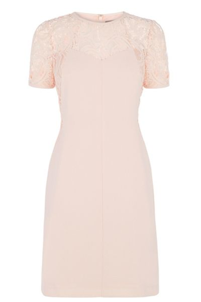 Oasis Lace Patched Dress