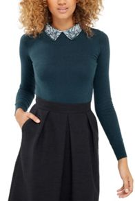 Oasis Lace Collar Knit