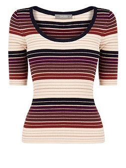 Sparkle Stripe Knit Top