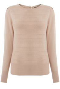Oasis Rib Pointelle Bow Back Knit