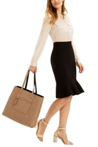 Oasis Fishtail Compact Skirt