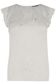 Oasis Stripe Frill Top