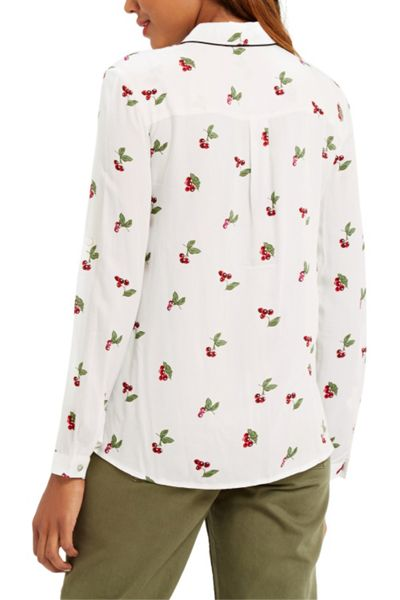 Oasis Cherry Piped Shirt