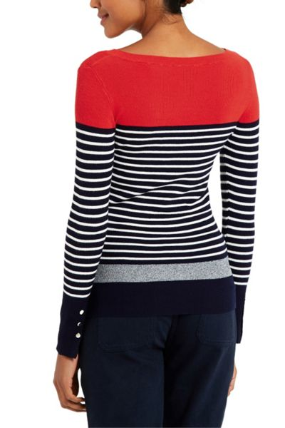 Oasis Stripe Skinny Colourblock Rib
