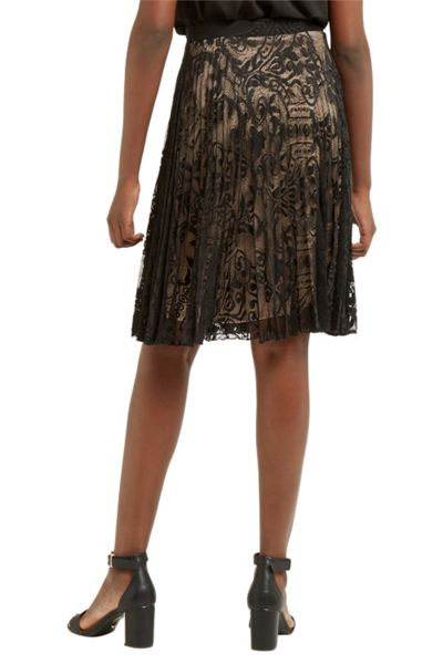 Oasis Pleated Lace Skirt