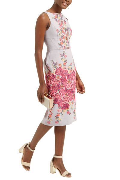 Oasis Floral Jacquard Pencil Dress