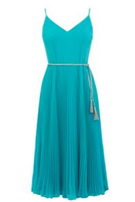 Oasis Pleated Cami Midi Dress