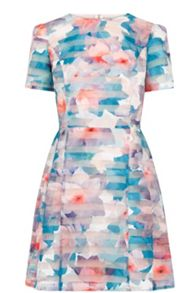 Oasis Digital Organza Skater Dress