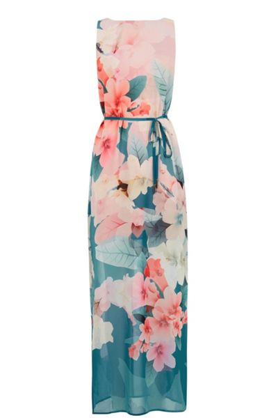 Oasis Digital Floral Maxi Dress
