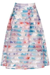Oasis Digital Organza Midi Skirt