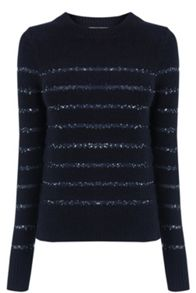 Oasis Sequin Stripe Perfect Crew