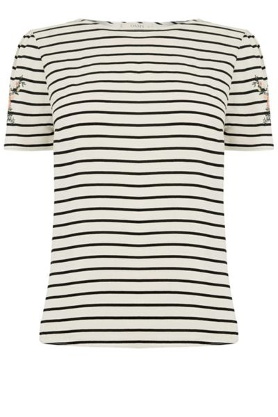 Oasis Embroidered Stripe Tee