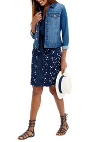 Oasis Star Print Shirt Dress