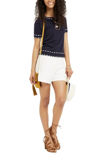Oasis Cute Tipped Short Sleeve Knit