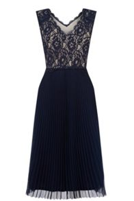 Oasis Lace Pleated Midi